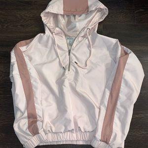 Windbreaker half zip pullover sweatshirt hoodie